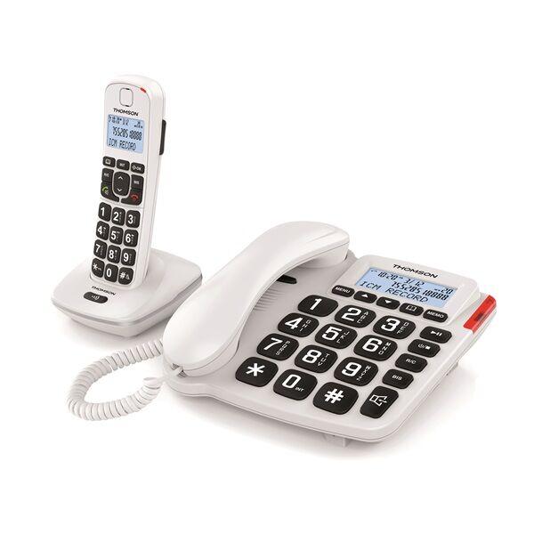 Téléphone TH-540DRWHT Serea Comby - 2 en 1