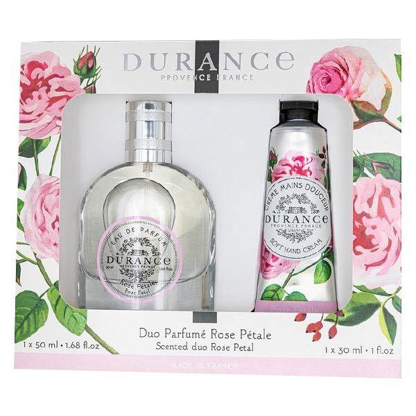 Durance Coffret Duo Parfumé Rose Pétale Eau de Parfum 50ml + Crème Mains 30ml