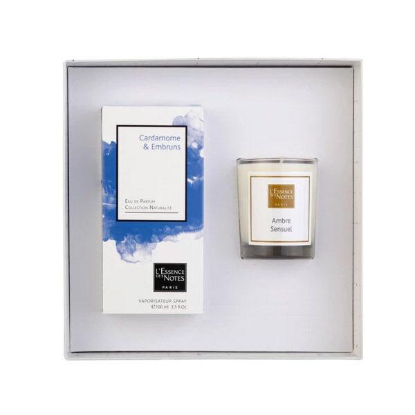 Essence des Notes Coffret Eau de Parfum Cardamome et Embruns 100ml + Bougie Ambre Sensuel