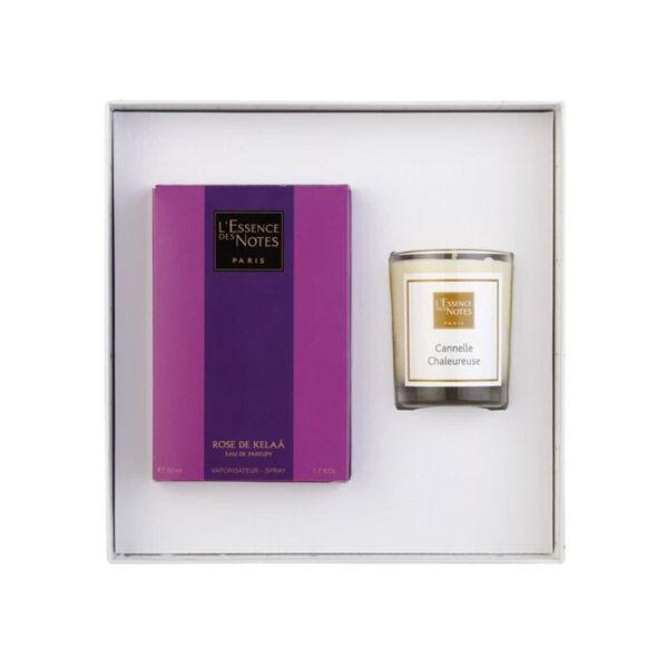 Essence des Notes Coffret Eau de Parfum Rose de Kelaâ 50ml + Bougie Cannelle Chaleureuse