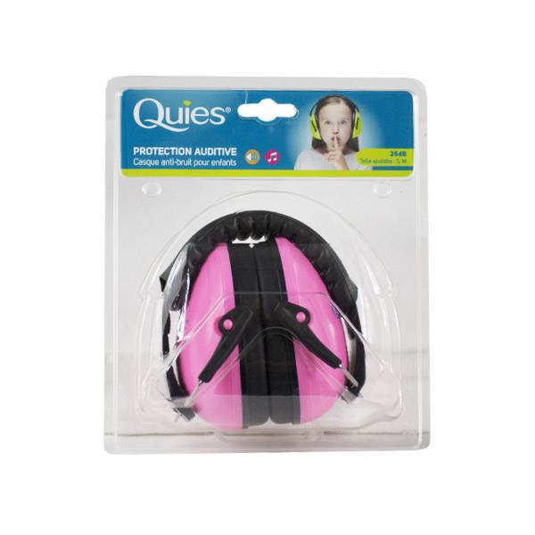 Quies Protection Auditive Casque Anti-Bruit Enfants Rose