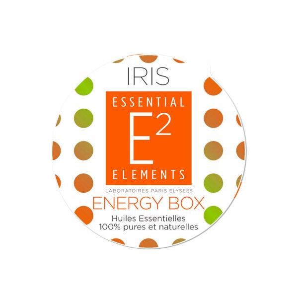 E2 Essential Elements Aromabox Energy Box aux 27 Huiles Essentielles pour Diffuseur Iris 3 capsules