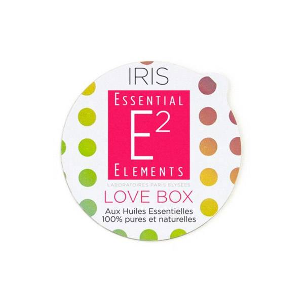 E2 Essential Elements Aromabox Love Box aux 24 Huiles Essentielles pour Diffuseur Iris 3 capsules
