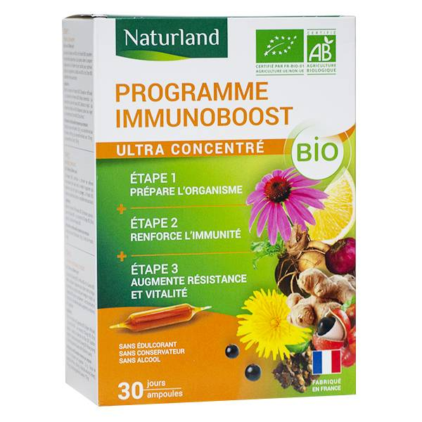 Naturland Programme Immunoboost Bio 30 ampoules