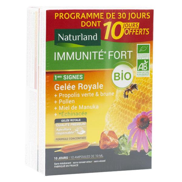 Naturland Immunité Fort Bio 20 ampoules + 10 Offertes