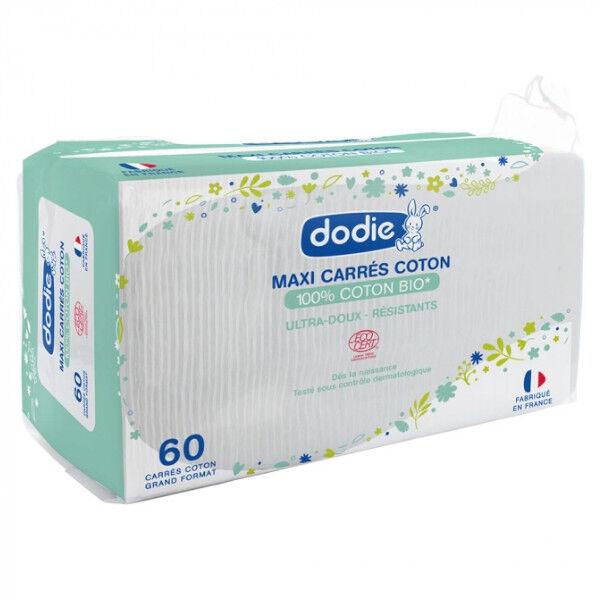 Dodie Hygiène & Soin Maxi Carrés Coton Bio 60 unités