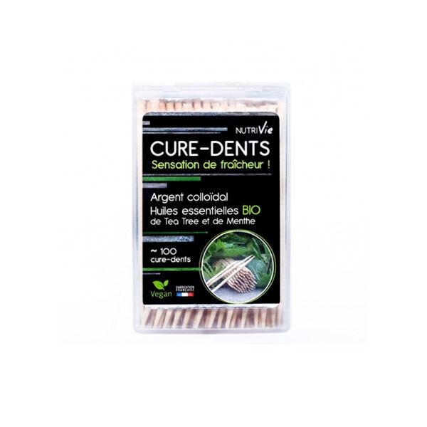 Nutrivie Cure Dents Argent Colloïdal Huiles Essentielles Bio 100 unités