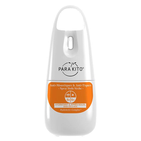 Parakito Anti-Moustiques & Anti-Tiques Spray Protection Huile Sèche 75ml