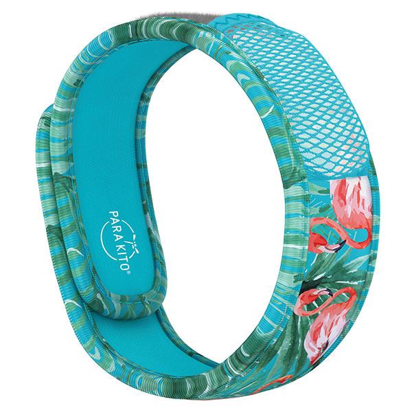 Parakito Graphic Bracelet Anti-Moustiques Blue Flamingo + 2 pastilles