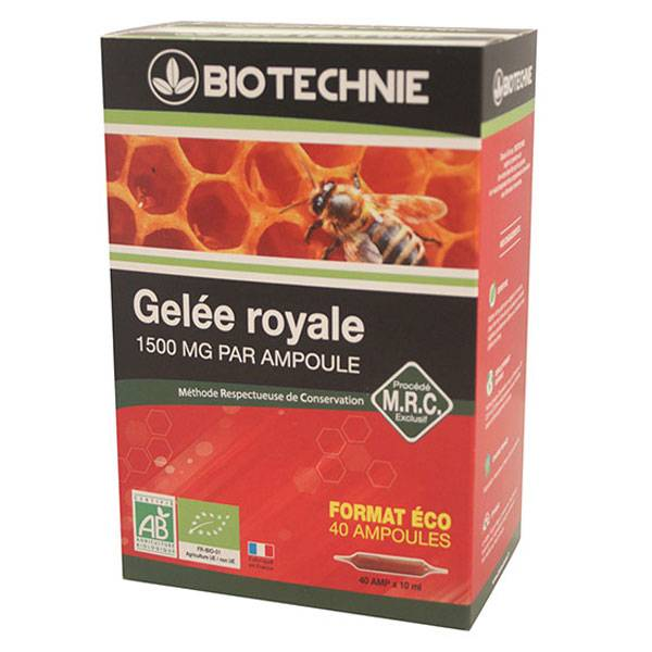 Biotechnie Gelée Royale Bio 40 ampoules