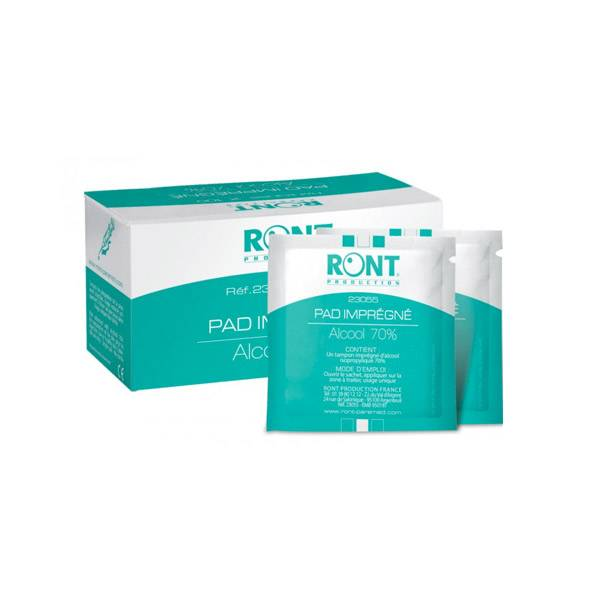 Ront Pad Tampon d'Alcool 70% 100 Sachets