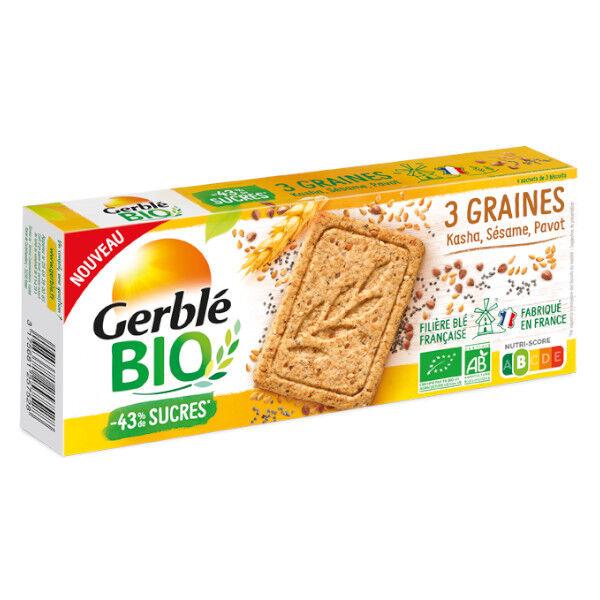 Gerblé Bio 3 Graines Kasha Sésame Pavot 132g