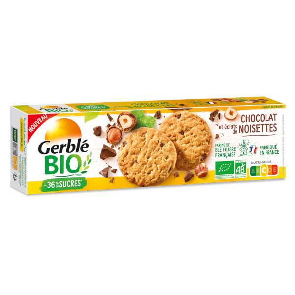 Gerblé Vitalité Sablés Chocolat et Eclats de Noisette Bio 130g