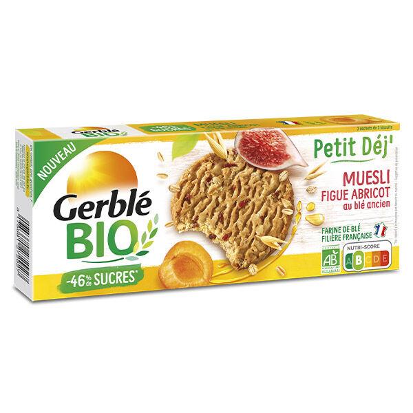 Gerblé Bio Biscuit Petit Dej' Muesli Figue Abricot 132g