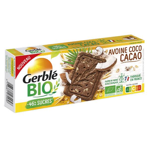Gerblé Bio Biscuit Avoine Cacao Coco 132g