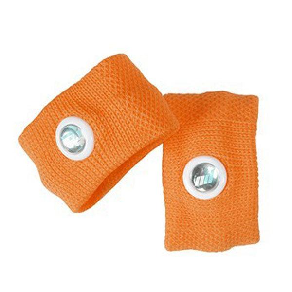 Pharmavoyage Paire de Bracelets Anti-nausées Orange Taille S