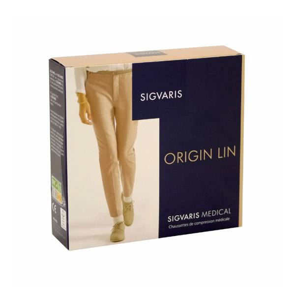Sigvaris Origin Lin Chaussettes Homme Classe 2 Small Normal Noir