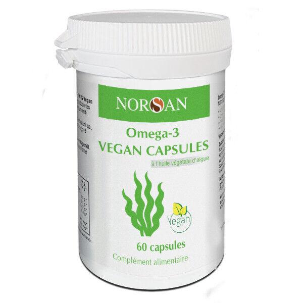 Norsan Oméga 3 Vegan 1400mg Huile d'Algues 60 capsules