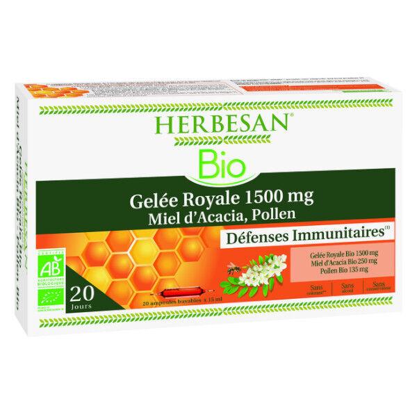 Herbesan Gelée Royale Bio 1500mg 20 ampoules