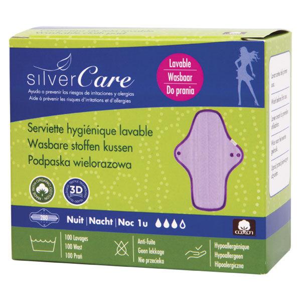 Silvercare Silver Care Serviette Hygiénique Nuit Lavable