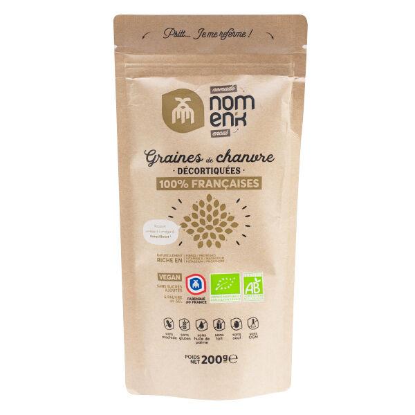 Nomen'k Nomank Graines de Chanvre Décortiquées Bio 200g