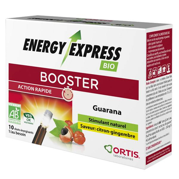 Ortis Energy Express Bio Booster Saveur Citron Gingembre 10 shots