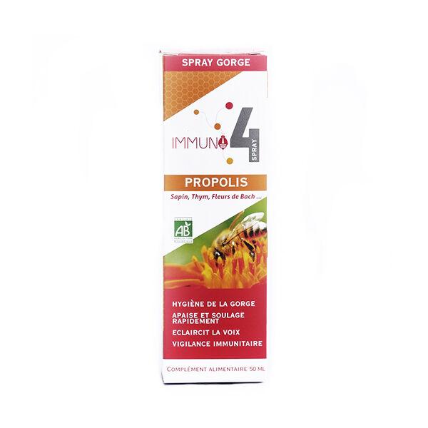Laboratoire Mint-e Mint-e Immuno 4 Spray Gorge Propolis 50ml