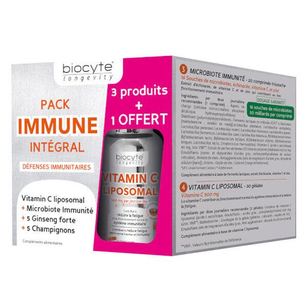 Biocyte Pack Immune Intégral Défenses Immuntaires Lot de 3 Produits + 1 Offert