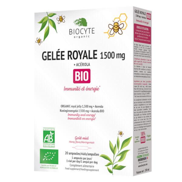 Biocyte Gelée Royale 1500mg Bio 20 ampoules