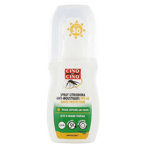 Cinq sur Cinq Spray Citriodora Anti moustiques SPF50 100ml