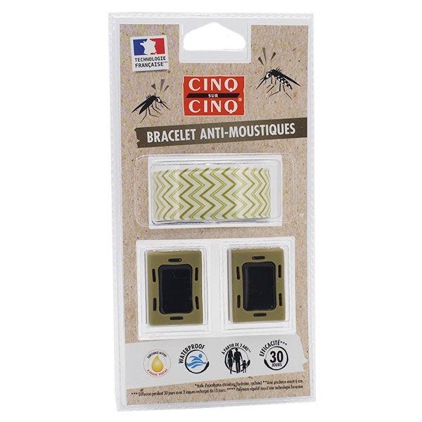 Cinq sur Cinq Technislap Bracelet Anti-Moustiques Géométrie Vert