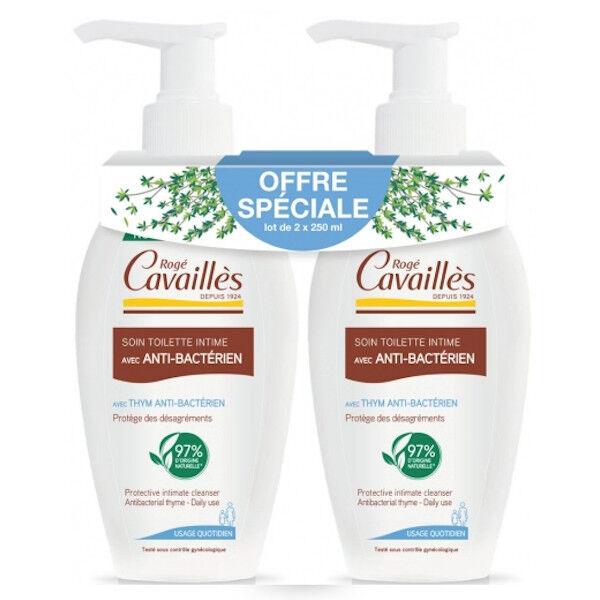 Rogé Cavaillès Soin Toilette Intime Anti-Bactérien Lot de 2 x 250ml