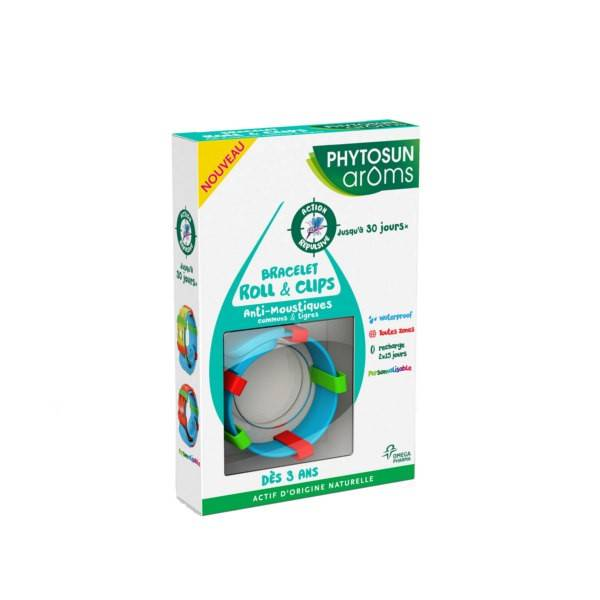 Phytosun Aroms Phytosun Arôms Bracelet Roll et Clips Anti-Moustiques
