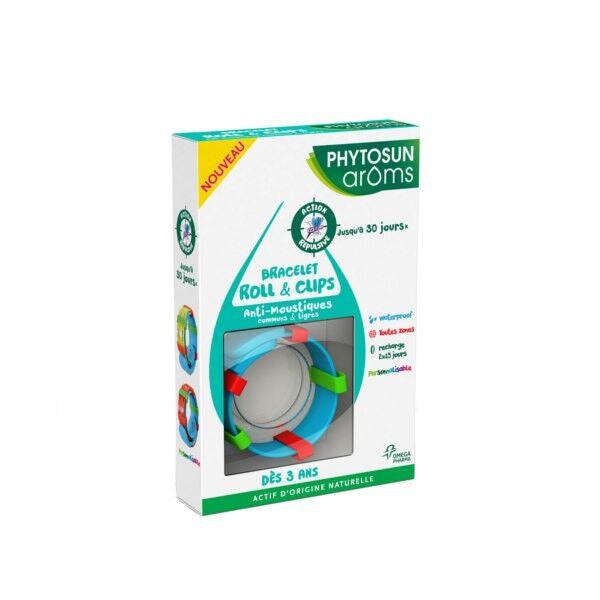 Phytosun Arôms Bracelet Roll et Clips Anti-Moustiques