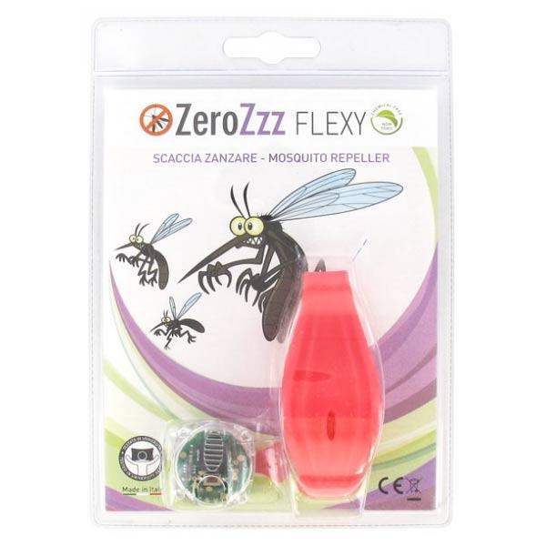 Zerobugs Zerozzz Flexy Bracelet Anti-Moustiques à Ultrason Rouge