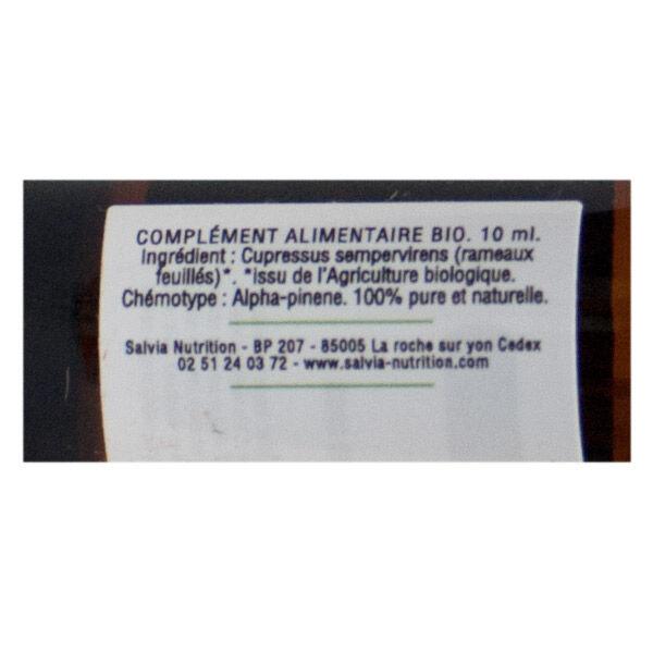 Salvia Huile Essentielle Bio Cyprès 10ml