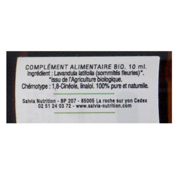 Salvia Huile Essentielle Bio Lavande Aspic 10ml