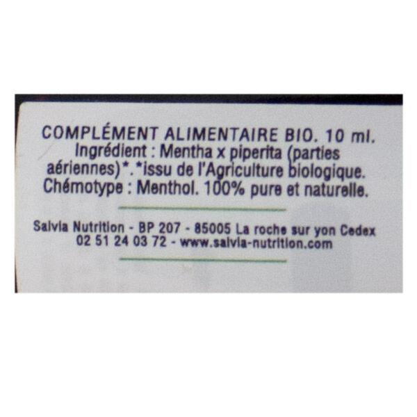 Salvia Huile Essentielle Bio Menthe Poivrée 10ml