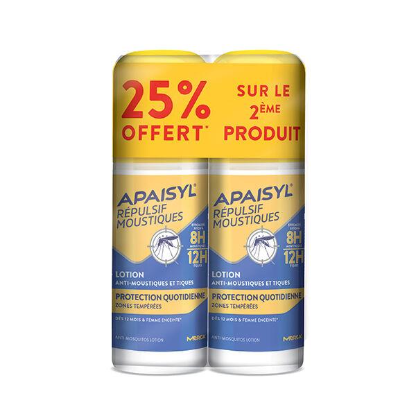 Apaisyl Anti-Moustiques Répulsif Lotion Protection Quotidienne Lot de 2 x 90ml