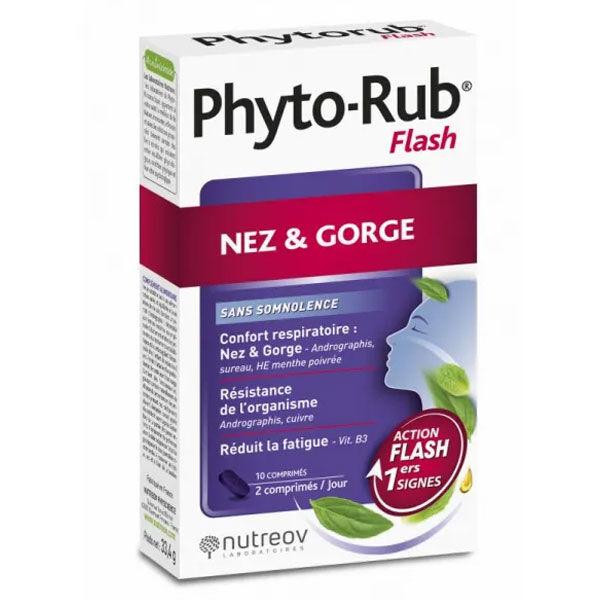Nutreov Physcience Phyto Rub Flash Coup de Froid Nez / Gorge 10 comprimés