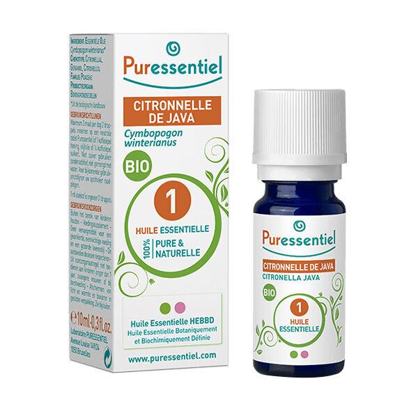 Puressentiel Huile Essentielle Bio Citronnelle de Java 10ml