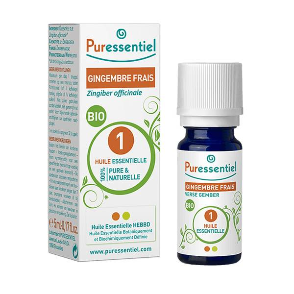 Puressentiel Huile Essentielle Bio Gingembre Frais 5ml (Zingiber officinale)