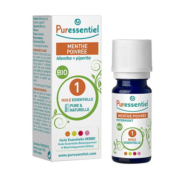 Puressentiel Huile Essentielle Bio Menthe poivrée 10ml (Mentha piperita)
