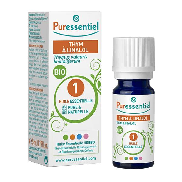 Puressentiel Huile Essentielle Bio Thym à Linalol 5ml (Thymus vulgaris Linaloliferum)