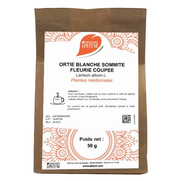 Iphym Ortie Blanche Feuille Coupée 50g