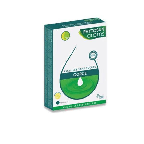 Phytosun Aroms Respiration Pastilles sans sucre Citron 24 pastilles