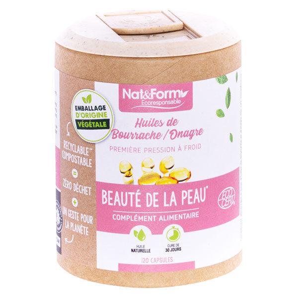 Nat & Form Huiles de Bourrache et Onagre Bio 120 capsules