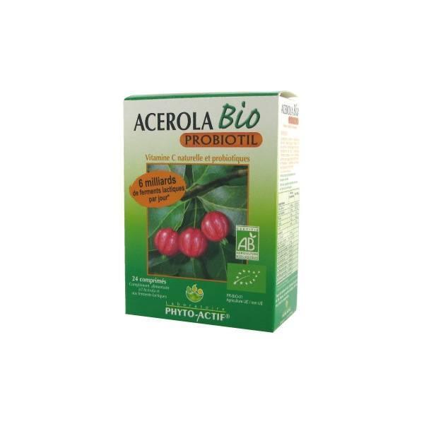 Phyto-Actif Phytoactif Acérola bio probiotil 24 comprimés