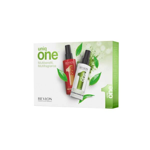 2510977 Revlon Uniq One Classic 150ml + Green Tea 150ml Set