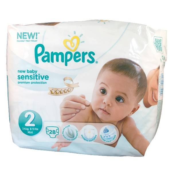 Pampers New Baby Sensitive T2 (3 - 6kg) 28 couches